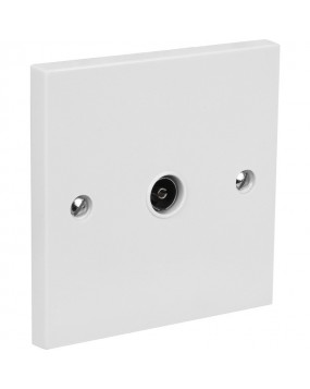 Single Coaxial TV Outlet Wall Plate (Slimline)
