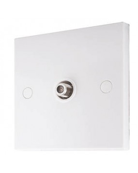 Single F-Type Satellite Outlet Wall Plate (Slimline)