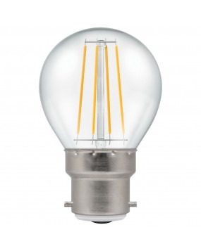 4W LED Lamp Bulb (Dimmable, Golf Ball, Bayonet, Warm White, Filament Style)